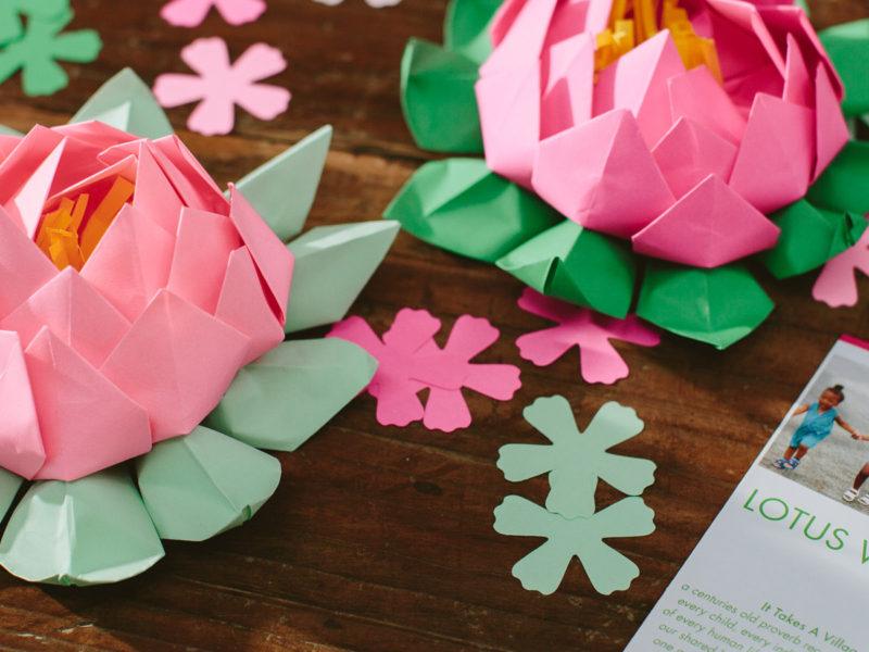 Paper Lotus Flowers